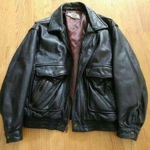 Banana Republic Brown Leather Jacket Mens  Ss 44